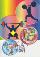 Carte  Maximum  1er Jour  FRANCE   Paire  Championnat  Du   Monde  D' Haltérophilie    PARIS    2011 - 2010-...