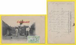 CPA Afrique ֎ COTE IVOIRE - 1916 ֎ Intérieur Concession KANI ¤¤ Femme Seins Nus - Oblitération DAKAR Sénégal - Ivory Coast
