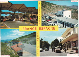Roussillon: LANCIA FULVIA RALLYE '67, CITROËN AMI, DS, PEUGEOT 404, AUSTIN MINI - Frontière France-Espagne - Toerisme