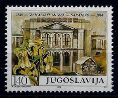 Yugoslavia 1988: Centenary Of Bosnia Amd Herzegovina Museum, Sarajevo. MNH (**) - Neufs