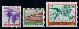 Yugoslavia 1989: Definitive, Postal Services. MNH(**) - Neufs