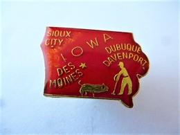 PINS USA IOWA SIOUX CITY DES MOINES DUBUQUE DAVENPORT / 33NAT - Città