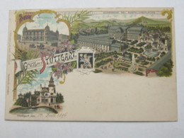 1896 , 5 Pfg. Privatganzsache Aus Stuttgart - Wuerttemberg
