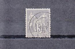 "1876-1878  Type SAGE  15c Gris S Gris Pale  "" Cachet A Date "" Fev 1877    Sans Charniere  Scan Recto-verso - 1876-1878 Sage (Type I)"