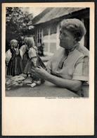 C0353 - Martha Vogeler - Autogrammkarte Worpsweder Trachten Puppen Worpswede - Trau & Schwab Dresden - Autographes
