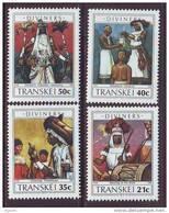 D101225 Transkei 1990 South Africa MEDICAL TRADITIONAL DOCTORS Drums Nudes MNH Set - Afrique Du Sud Afrika RSA - Transkei