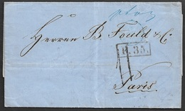 1860 FALTBRIEF - RIGA ( RUSSLAND ) - Durch PREUSSEN Nach PARIS - Briefe U. Dokumente