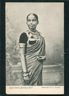 CPA - High Caste Brahmin Girl  (dos Non Divisé) - Inde