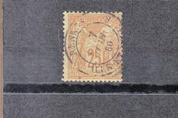 1877-81 SAGE 25c Bistre S Jaune    C.à.d.    De RENNES    Le 7 Juin 1880  Sans Charniere  Scan Recto-verso - 1870 Bordeaux Printing