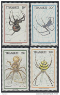 D10317 Transkei South Africa 1987 ARACHNIDS SPIDERS INSECTS MNH Set - Afrique Du Sud Afrika RSA Sudafrika - Transkei