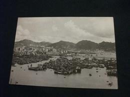 STORIA POSTALE  FRANCOBOLLO HONG KONG VIEW OF THE BAY - Chine (Hong Kong)