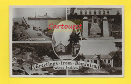 CPA Antilles ֎ Greetings From Dominica  1918 ֎  Multiview ¤¤ West Indies - Dominique