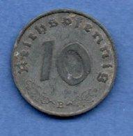 Allemagne  - 10 Reichspfennig 1941 B -  Km # 101 - état  TB+ - 10 Reichspfennig