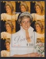 2346 - Princess DIANA  Princess Of Wales 1961 / 97 LIBERIA . - Familles Royales