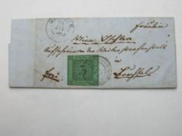1855 , WIESLOCH , Klarer  Stempel Auf Brief Mit Nummernstempel + Inhalt - Baden