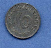 Allemagne  - 10 Reichspfennig 1943 F -  Km # 101 - état  TTB - 10 Reichspfennig
