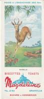 Rare Buvard Biscottes Magdeleine Granville La Gazelle - Zwieback