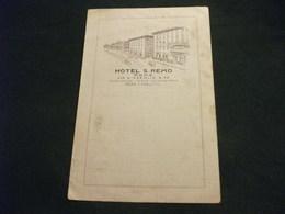 STORIA POSTALE  FRANCOBOLLO REGNO D'ITALIA BALILLA HOTEL S. REMO ROMA VIA D'AZEGLIO PIEGHETTA ANG. - Alberghi & Ristoranti