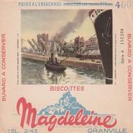 Rare Buvard Biscottes Magdeleine Granville Cherbourg - Biscottes