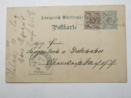 1901 , URLAU  , Klarer  Stempel Auf Ganzsache - Wuerttemberg