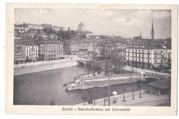 Zürich, Bahnhoffbrücke Mit Universität - ZH Zurich