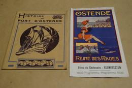 Histoire Du Port D'Anvers,Antwerpen, + Publicité D'époque 1930,dimensions; 18 Cm. Sur 13,5 Cm. - Dépliants Touristiques
