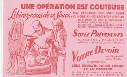 Rare Buvard Caisse Chirurgicale Mutuelle Familiale De La Mayenne - Banque & Assurance