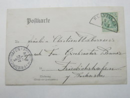 1904 , RENNINGEN   , Klarer  Stempel Auf Karte - Wuerttemberg