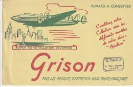 Rare Buvard Grison Entretien Chaussures Le Super Constellation Lockheed - Chaussures