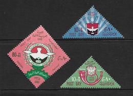 EGYPTE 1965 JOURNEE DE LA POSTE  YVERT N°636/38  NEUF MNH** - Égypte