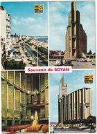 Souvenir De Royan: CITROËN 2CV, SIMCA 1500, RENAULT 8 - L'Eglise Notre-Dame: ORGUE / ORGEL / ORGAN - Toerisme
