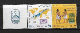 EGYPTE 1966 JOURNEE DE LA POSTE  YVERT N°A97/98 NEUF MNH** - Luchtpost