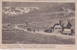ANDORRAN - VALLÉE D'ANDORRE - PAS DE LA CASE  FRONTIERE FRANCO ANDORRANE  - CAMION AUTOMOBILE  POSTE DE CONTROLE DOUANE - Andorra