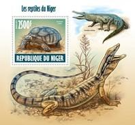 NIGER 2013 SHEET REPTILES REPTILIEN TURTLES TARTARUGAS LAGARTOS CROCODILES LIZARDS LEZARDS TORTUES WILDLIFE Nig13618b - Niger (1960-...)