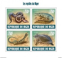 NIGER 2013 SHEET REPTILES REPTILIEN SNAKES TURTLES CROCODILES LIZARDS LEZARDS TORTUES SERPENTS WILDLIFE Nig13618a - Niger (1960-...)