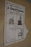 Trooz,ancienne Affiche Publicitaire De 1902,superbe état,meubles J.Counet - Fassotte,42 Cm. Sur 27 Cm. - Affiches