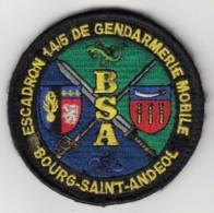 Insigne Gendarmerie Nationale Escadron 14/5 De Gendarmerie Mobile De Bourg St Andéol - Tissus - Police & Gendarmerie