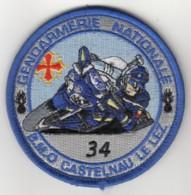 Insigne Gendarmerie Nationale De La Brigade Motorisée De Castelnau Le Lez - Tissus - Police & Gendarmerie