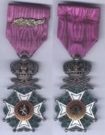 Médaille De Chevalier De L'Ordre De Léopold 1er à Titre Militaire Avec Palme - Belgique - Belgique