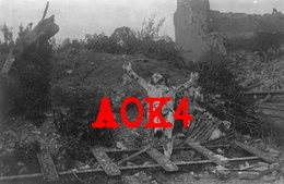 62 VIOLAINES LA BASSEE Crucifix Calvaire Nordfrankreich 1917 Ruines - France