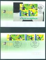 AUSTRALIA  - FDC - 9.5.2006 - SOCCER FIFA CUP GERMANY - Yv 2545-2548 BLOC 100 - Lot 18589 - Ersttagsbelege (FDC)