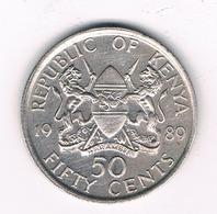 50 CENTS  1989 KENIA / 8575// - Kenya