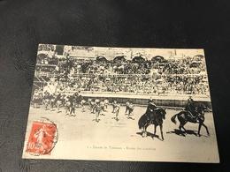1 - Course De Taureaux - Entrée Des Cuadrillas - 1913 Timbrée - Corrida