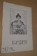 Ancien Dessin A L'encre De Chine,Belle époque,originale,signature à Identifier,25 Cm. Sur 17 Cm. - Drawings