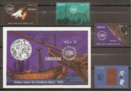 ASTROLOGIA - GRENADA 1986 - Yvert #1771/74+H210 ** - Astrología