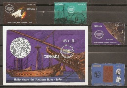 ASTROLOGIA - GRENADA 1986 - Yvert #1771/74+H210 - MNH ** - Astrología