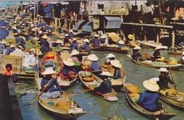 ASIE - THAILANDE - 3 CPA - LE MARCHÉ FLOTTANT  TEMPLE  BANGKOK - Thaïlande
