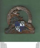 INSIGNE  GUERRE ALGERIE :  1°REGIMENT  INFANTERIE  --- ARTHUS BERTRAND PARIS - SCULTEUR DELANNOY - Armée De Terre