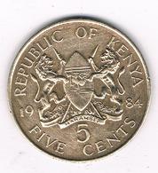 5 CENTS 1984  KENIA / 8579// - Kenya