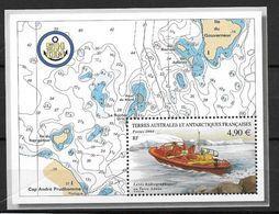 TAAF 2004 Bloc N° 10 Neuf Relevés Hydraugraphiques En Terre Adélie - Blocs-feuillets